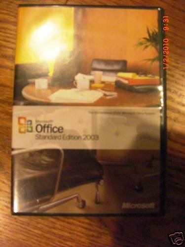 Microsoft Office Standard 2003,Full Retail,SKU 021-06145,Word,Excel,PowerPoint
