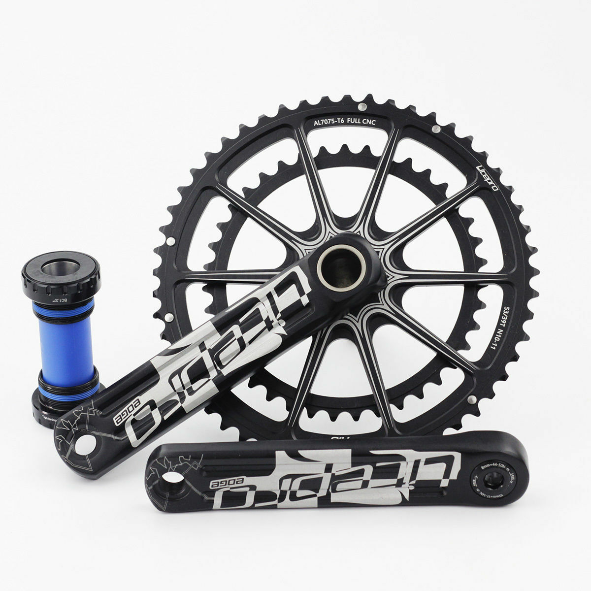 Litepro Folding Bike Hollow Double  Crankset Bicycle GXP BB Road Crankset 53 39T  clients first reputation first