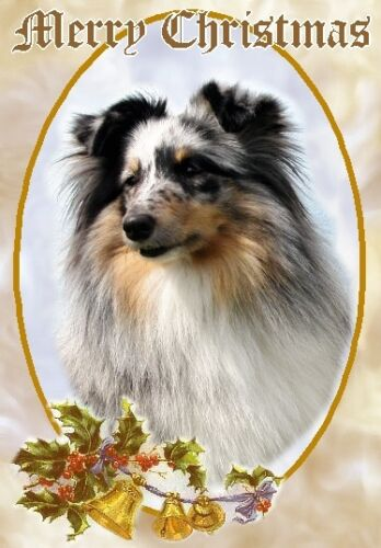Sheltie Shetland Sheepdog Dog A6 Christmas Card Design XSHELT-11 by paws2print