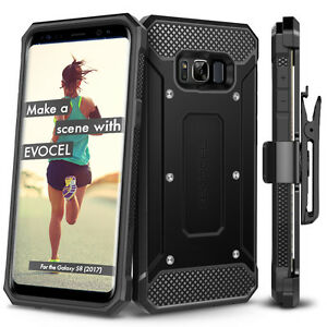 reputable site dff68 62890 Details about For Samsung Galaxy S8 / S8+ Case, Evocel Full Body Armor Case  w/ Rugged Holster