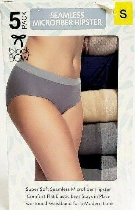 ladies 5 pack ex top store cream blue bow high leg briefs for just £5.00
