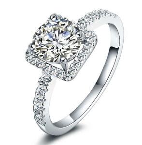 Women/'s 925 Sterling Silver Lab Diamond Wedding Bridal Engagement Ring Set R42