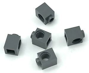Lego-5-New-Dark-Bluish-Gray-Technic-Bricks-1-x-1-with-Hole-Pieces