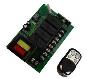230-V-15A-4-Canaux-Funk-emetteur-recepteur-Interrupteur-radio-Relay-Telecommande