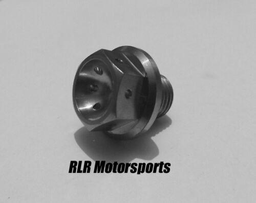 flange head bolt drilled  M14x12mm 1.25pitch Titanium engine sump bolt