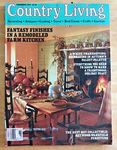 Details about Country Living Magazine 1994 Thanksgiving Decorating Turkey  Collectibles Recipes