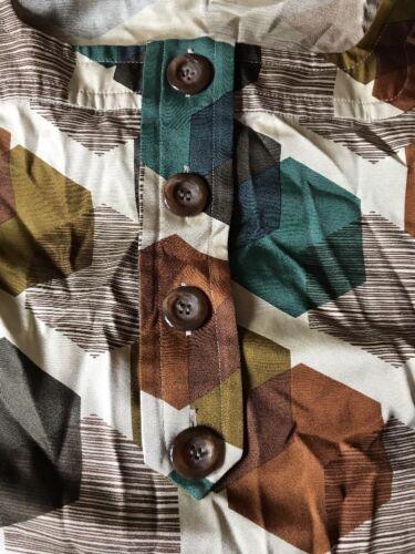 Orla Kiely Size Unworn Blouse Silk Top 4 Vintage qzwfCB5n4