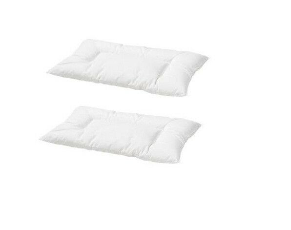 2 X Ikea Len Machine Washable Pillow For Cot Baby Childs 12 Month White