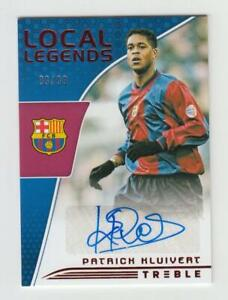 2018-19 Panini Treble Soccer Autograph Auto Card :Patrick Kluivert #89/99