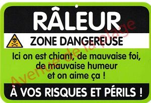REF23094 MATIERE GRISE MATIERE GRASSE PLAQUE DE RUE HUMORISTIQUE EN TOLE