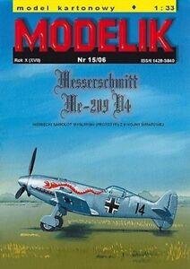 Modelik 15/06 -  Messerschmitt Me-209 V4    1:33   mit Lasercutteilen