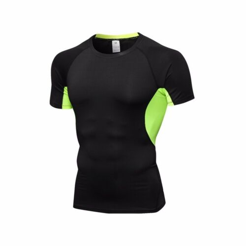 Men/'s Breathable T-shirt Short Sleeve Compression Sport Fitness Cycling Tee Tops