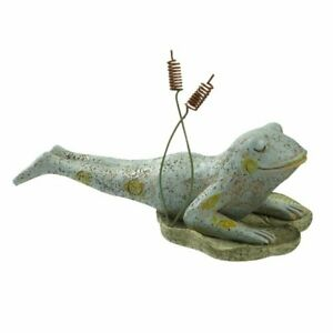 "grass lands usa cobra pose yoga frog on lily pad 5"" resin"