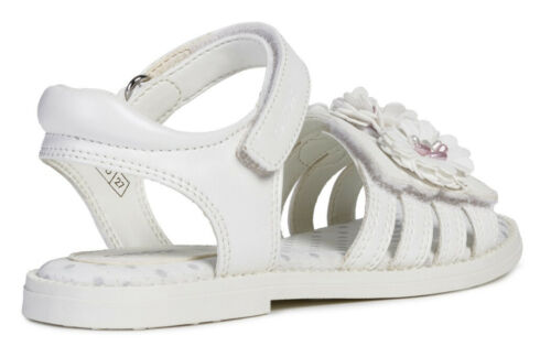 Geox J S Karly G D Girls White Sandals 100/% Positive Reviews