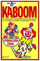 Kaboom Cereal Box Poster - 12 X 18