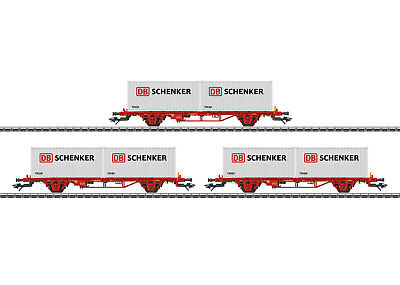 + Märklin 47725 H0 Container-Tragwagen-Set DB Schenker NEU /& OVP