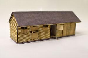 corte-con-laser-madera-contrachapada-Establos-Kit-Para-Oo-Escala-Modelo