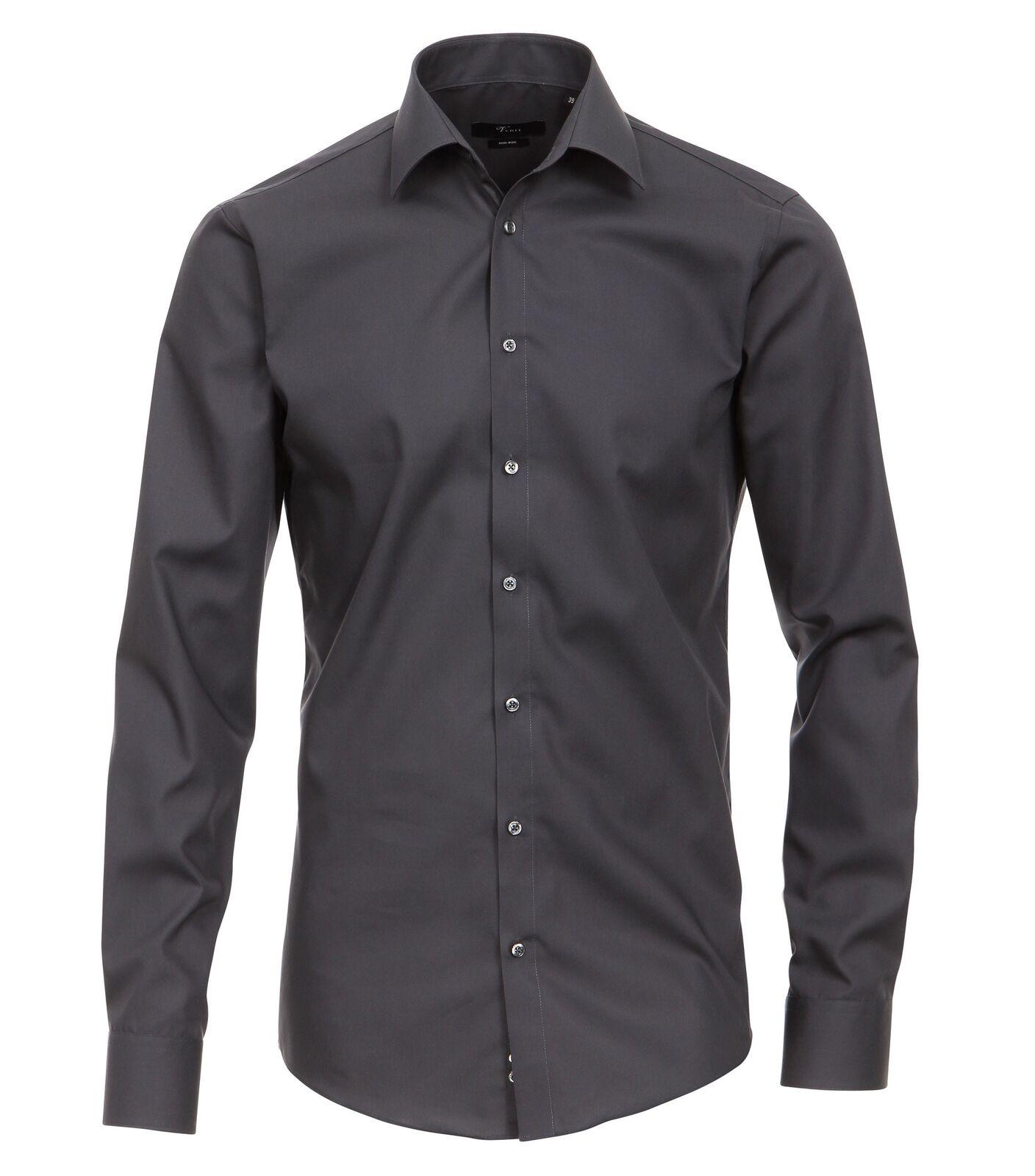VENTI - Slim Fit - Bügelfreies Herren Business Business Business Hemd mit Extra langem Arm (72cm)     | Nutzen Sie Materialien voll aus  dfd0c4