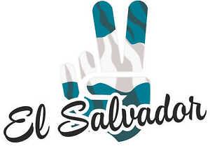 Car-Sticker-El-Salvador-Victory-rear-window-trunk-vehicle-tuning-10x8cm