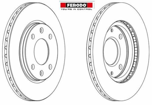169003 DDF214C FERODO disque avant peugeot 95661474 paire