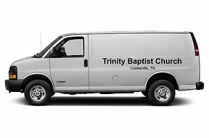 56275776c63c9b Church Van Lettering Sign Vinyl Decal Stickers 2 pc set - 90 inches ...