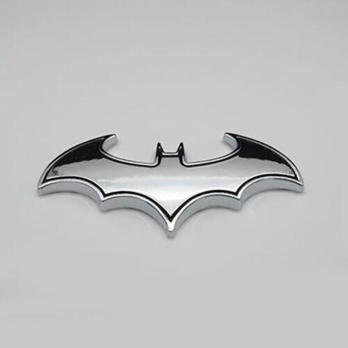 1PC Chrome Metal Badge Emblem Batman 3D Tail Decals Auto Car Sticker Silver