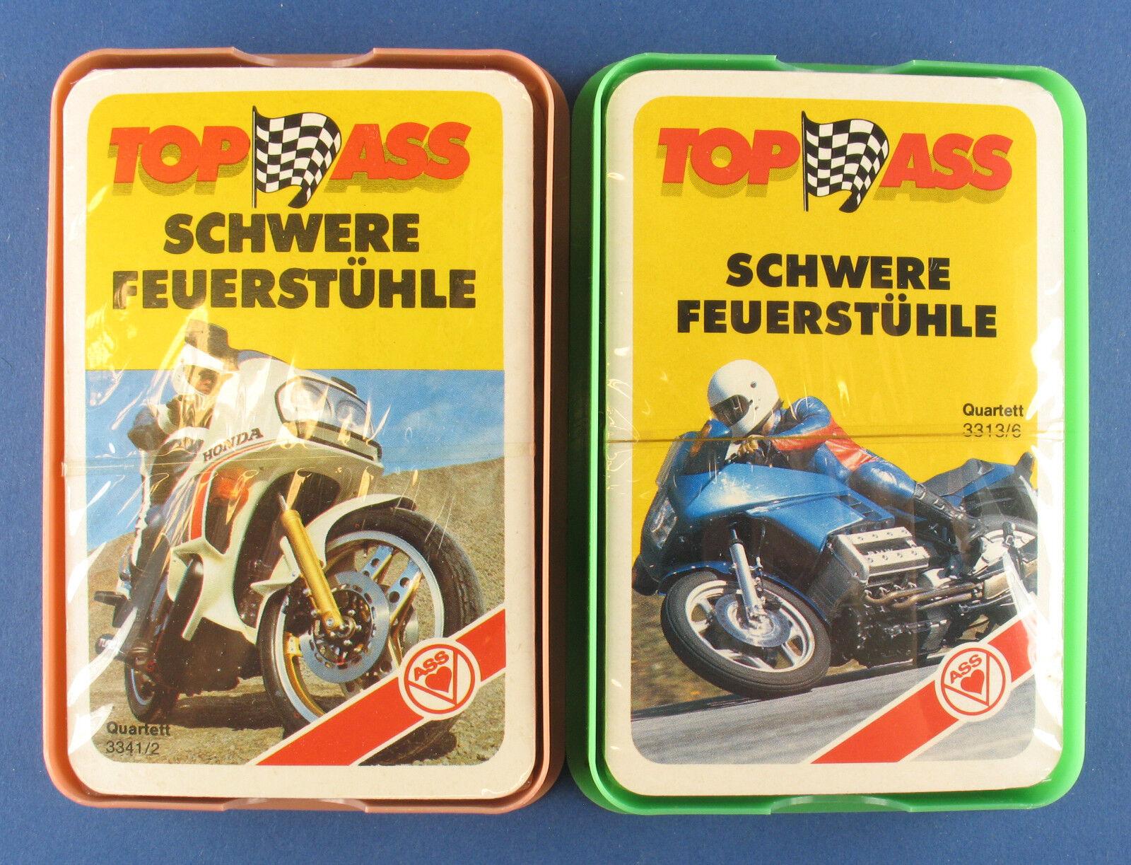 2x Quartett - SCHWERE FEUERSTÜHLE - ASS 3341 2 + 3313 6 - NEU in Folie -Motorrad