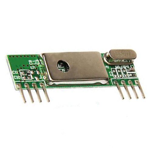 5Pcs 433Mhz Superheterodyne 3400 RF Transmitter Receiver kits for ARM//MCU
