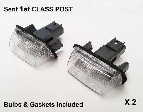 2x Citroen C3 C4 C5 DS4 Saxo Xsara Picasso Berlingo Rear Number Plate Lamp Light