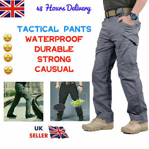 Mens Waterproof Hiking Tactical Trousers Outdoor Fishing Walking Regatta Pants c