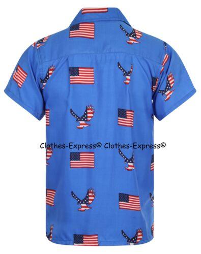 Stati Uniti America Da Uomo Aloha Camicia Hawaiana Hawaii Vacanza Spiaggia Addio al Celibato BBQ BIRRA Eagle