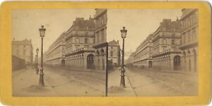 Rue Da Rivoli Parigi Stereo Vintage Albumina Ca 1865