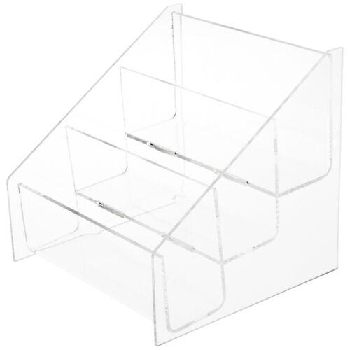 "Fits 5.8/"" x 4.1/"" Items Plymor Acrylic 3-Level Postcard Rack Countertop"