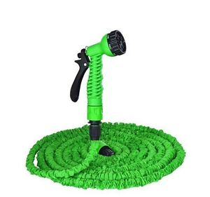 Flexible Convenient Garden Water Hose Pipe W Spray Nozzle