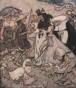 Once Upon A Time Fairy Tale Personnages Arthur Rackham 1913 Tipped-in Art Dissipation Rapide De La Chaleur