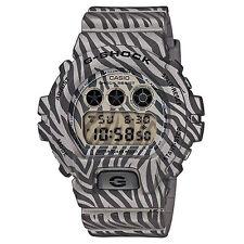 G-Shock DW-6900ZB-8ER Men's Grey Zebra Stripe Shock Resistant Watch w Alarm BNIB