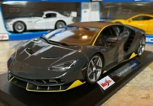 Lamborghini-Centenario-Gris-Metal-Diecast-Escala-1-18-Maisto-Modelo-de-Coche-Raro-Nuevo-En-Caja