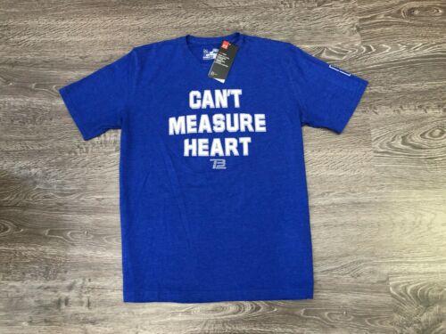 "Under Armour Tom Brady TB12 /""Can/'t Measure Heart/"" T-Shirt Blue Patriots 1322914"