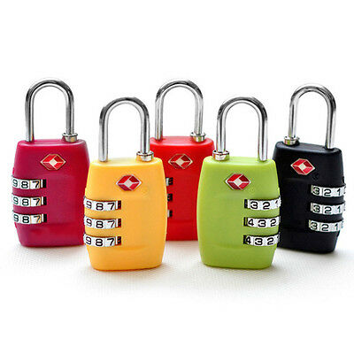 TSA Security 3-Dial Combination Travel Suitcase Luggage Bag Code Lock Padlock