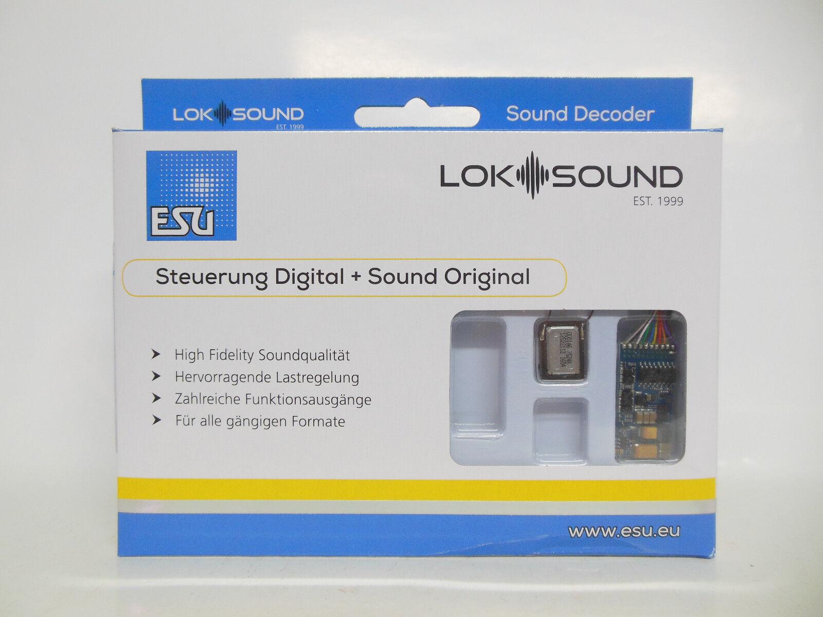ESU 58416 - LokSound 5 - DCC MM SX M4 - 6-pin NEM651 - NEUHEIT 2019 - OVP  | Eleganter Stil