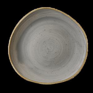 Churchill STONECAST Organic Round Plate Peppercorn Grey Teller Porzellan 28,6 cm