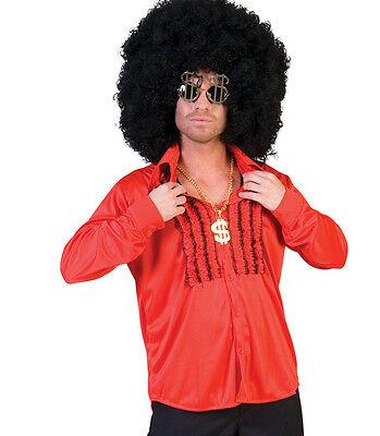 Camicia Anni 70 Rossa Tg Da 48 A 56 Squisita (In) Esecuzione