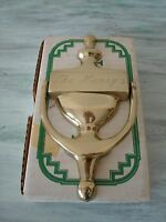 Vintage Solid Brass Door Knocker Hand Crafted Tarnish Resistant the Henry's