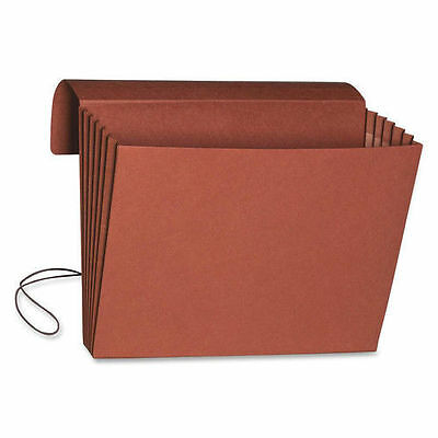 """10/"""" X 15/"""" 5.25/"""" Smead 71076 Redrope Expanding Wallets With Cloth Tape Tie"""
