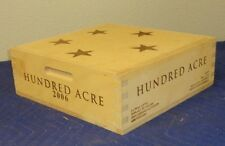 """Hundred Acre Napa Wine Crate holds 3 btt size 5""""x14.5""""x15"""""""