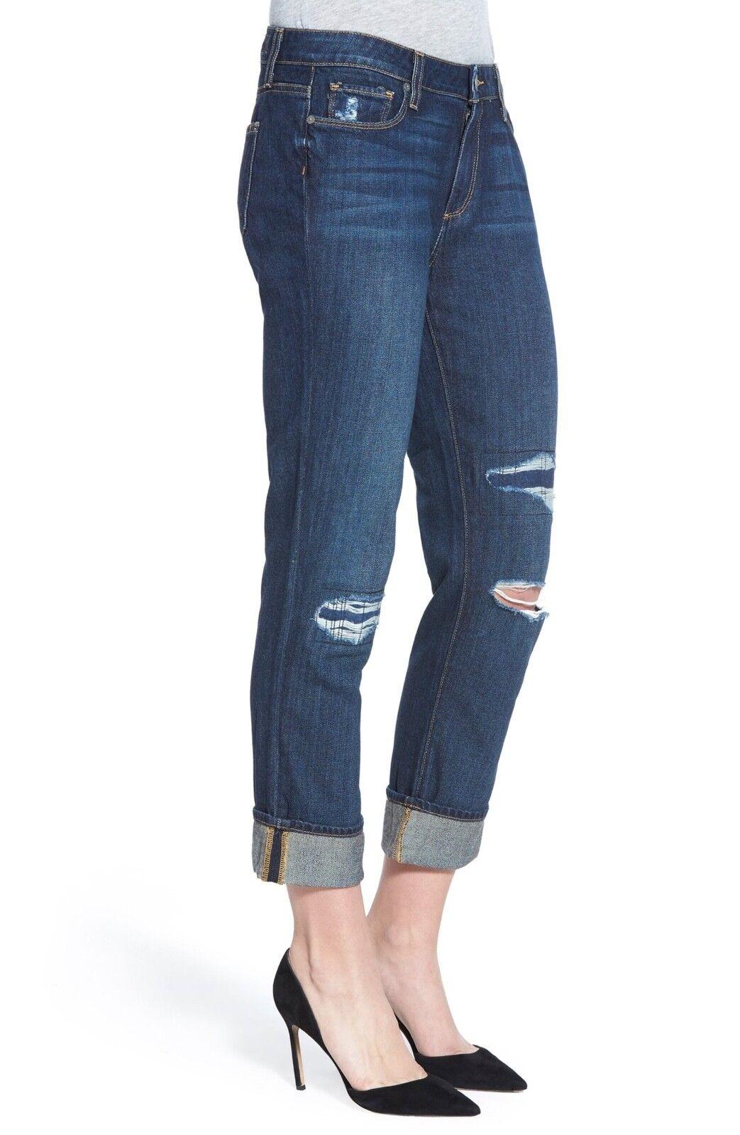 NWT Paige Anthropologie destructed boyfriend jeans sz 26 destroyed denim  250