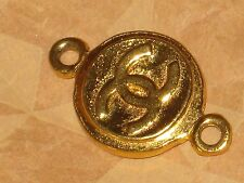 CHANEL   authentic GOLD CC LOGO   CHARM PENDANT  LOVELY UNDER 1  ''
