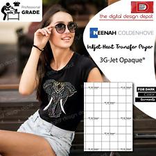 Heat Transfer Paper For Dark Fabric Neenah 3g Jet Opaque 85x11 50 Sh
