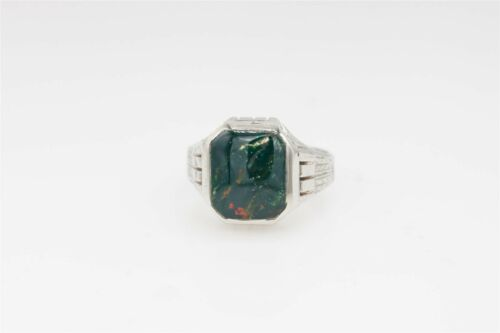 Antique 1900s Edwardian 7ct Natural BLOODSTONE 14k