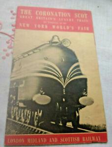 The Coronation Scot Great Britain Luxury Train/1939 New York World's Fair Flyer